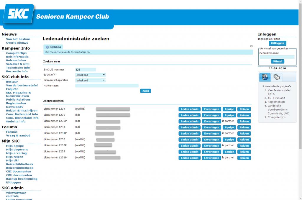 SKC-ledenadministratie