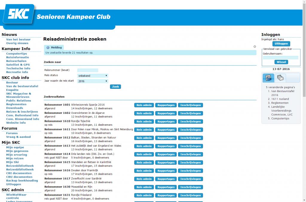 SKC-reisadministratie